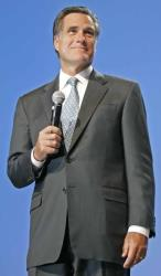 Mitt Romney speaking at a 'Rally for Romney' fundraiser back on September 28, 2007 in Salt Lake City, Utah.