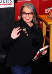 Roseanne Barr promotes her book 'Roseannearchy' last year in New York City.