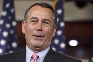 House Speaker John Boehner of Ohio talks about an accord on the payroll tax cut negotiations Thursday.
