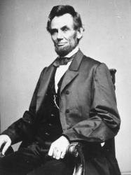 Portrait of the 16th United States President, Abraham Lincoln.