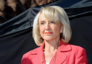 Arizona Gov. Jan Brewer, a busy politician.
