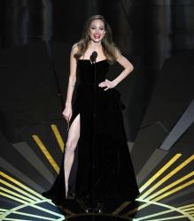 Angelina Jolie presents an award during the 84th Academy Awards on Sunday, Feb. 26, 2012, in the Hollywood section of Los Angeles.