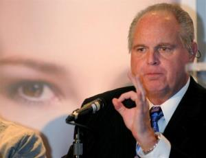 In this Wednesday, Jan. 27, 2010 photo provided by the Las Vegas News Bureau, radio talk-show host Rush Limbaugh speaks during a Miss America news conference in Las Vegas.