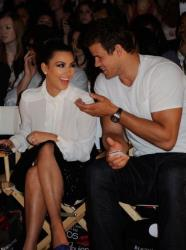 Kim Kardashian, and Kris Humphries attend the Abbey Dawn by Avril Lavigne Spring 2012 fashion show during Style360 at the Metropolitan Pavilion on September 12, 2011 in New York City.