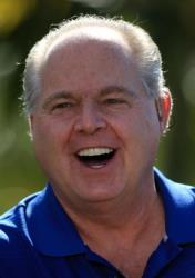 Rush Limbaugh during the Els for Autism Pro-Am on the Champions Course at the PGA National Golf Club on March 15, 2010 in Palm Beach Gardens, Florida.