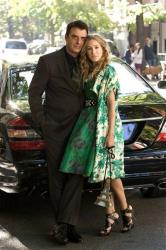 In this image released by New Line Cinema, it's Chris Noth as Mr. Big and Sarah Jessica Parker in the first movie.