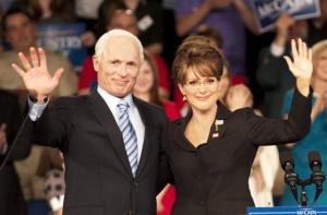 Ed Harris portrays Arizona Sen. John McCain, left, and Julianne Moore portrays Sarah Palin in a scene from Game Change.