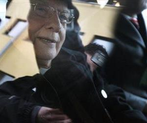 Dutch top cleric Cardinal Adrianus Simonis, leaves court in Middelburg, Netherlands, after testifying in an investigation into the sexual abuse of a man by a priest, in this Jan. 25, 2011 file photo.
