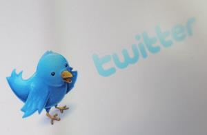 A close-up view of the logo for the microblogging website Twitter on June 1, 2011 in London, England.