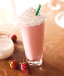 The Strawberries and Creme Frappuccino.