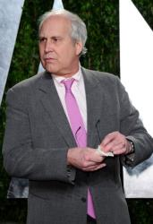 Actor Chevy Chase arrives at the 2012 Vanity Fair Oscar Party hosted by Graydon Carter at Sunset Tower on February 26, 2012, in West Hollywood, California.