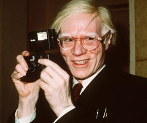 This 1976 file photo shows pop artist Andy Warhol in New York.