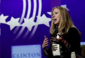 Chelsea Clinton got past being compared to a dog at the age of 13 with the help of a 'thick skin, she said on a panel supporting Sandra Fluke.