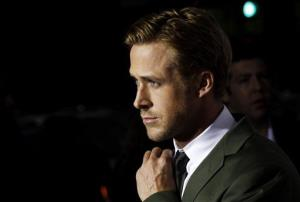 Cast member Ryan Gosling arrives at the premiere of The Ides of March, in Beverly Hills, Calif., Tuesday, Sept. 27, 2011.