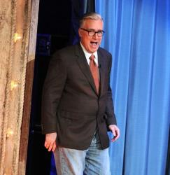 Keith Olbermann visits 'Late Night With Jimmy Fallon' at Rockefeller Center last year.