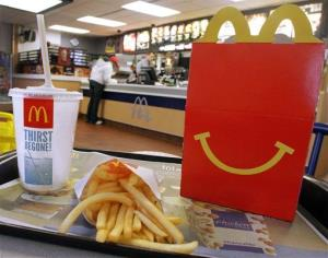 McDonald's all smiles.