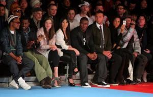 Lupe Fiasco, Kanye West, Milla Jovovich, Kim Kardashian, Reggie Bush, Ian Thorpe, Veronica Webb and Rufus Wainwright attend Mercedes-Benz Fashion Week on February 15, 2009 in New York City.