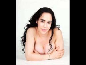 Nadya Suleman flashes some skin that recently earned her $8,000.