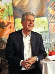 Anthony Bourdain at a luncheon at Laut Restaurant in New York, Monday, Feb. 13, 2012.