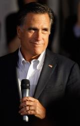 Mitt Romney holds a town hall-style campaign event at RC Fabricators April 10, 2012 in Wilmington, Delaware.
