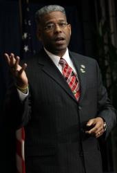 Rep. Allen West, R-Fla., speaks during a Tea Party Town Hall meeting in February.