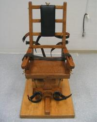 This undated photo provided by the Virginia Department of Corrections shows an electric chair.