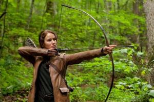 In this image released by Lionsgate, Jennifer Lawrence portrays Katniss Everdeen in a scene from The Hunger Games.