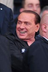Former Italian Prime Minister Silvio Berlusconi at a soccer game.