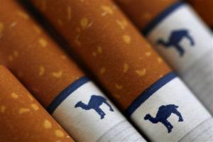 This file photo made Oct. 21, 2009, shows Camel cigarettes, a Reynolds American brand, in Philadelphia.