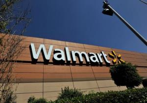 Walmart store signage is seen from the store lot on April 23, 2012 in Mexico City, Mexico.