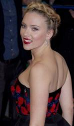 Scarlett Johansson arrives for the European Premiere of 'Marvel Avengers Assemble', at a west London cinema, Thursday, April 19, 2012.