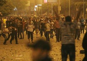 Egyptians clash early Sunday, April 29, 2012 in Cairo, Egypt.