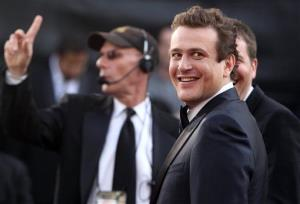 Jason Segel arrives before the 84th Academy Awards on Sunday, Feb. 26, 2012, in the Hollywood section of Los Angeles.