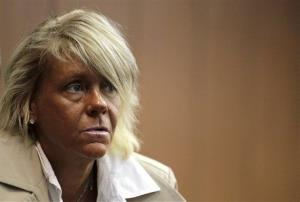 Patricia Krentcil, 44, waits to be arraigned at the Essex County Superior Court, Wednesday, May 2, 2012 in Newark, NJ.
