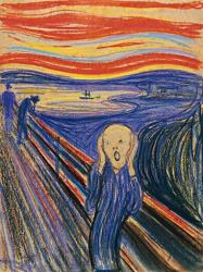 This undated file photo provided by Sotheby's shows The Scream, by Norwegian painter Edvard Munch.