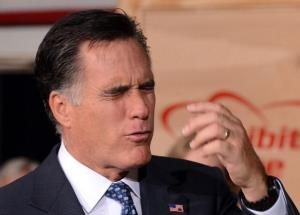 Mitt Romney speaks during a campaign event in Chantilly, Virginia, on May 2, 2012.