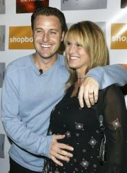 Host Chris Harrison and wife Gwen arrive for the Season Launch Party at Pearl September 22, 2003 in Los Angeles.