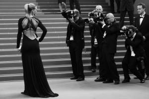 Israeli model Bar Refaeli poses on the red carpet before the screening of 'The Beaver' presented out of competiton at the 64th Cannes Film Festival on May 17, 2011 in Cannes.  ANNE-CHRISTINE POUJOULAT