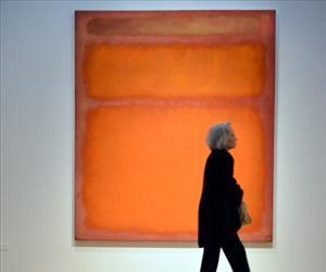 Mark Rothko's 'Orange, Red, Yellow', 1961, on display at Christie's in New York on May 4, 2012 during a preview of the Post War and Contemporary Art sale to take place on May 8.