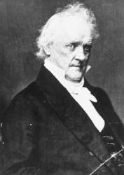 Portrait of the 15th US President James Buchanan. (1791-1868)