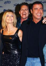 Olivia Newton-John, Jeff Conaway, and John Travolta from 'Grease' attend the Celebration of Paramount Studio's 90th Anniversary on September 22, 2002 at Paramount Studios in Los Angeles, California.