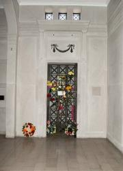 This image released by Julien's Auctions shows Elvis Presley's crypt in the Forest Hill Cemetery in Memphis.