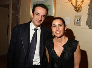 Olivier Sarkozy (L) and his wife Charlotte Sarkozy attend a preview of the Gerard Oury Collection presented by Artcurial at the Payne Whitney Mansion March 5, 2009 in New York City.
