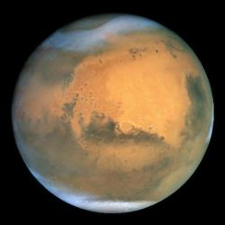 This undated file photo made taken by the NASA Hubble Space Telescope shows the planet Mars.