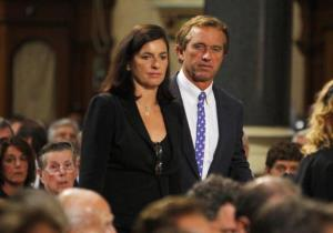Robert F. Kennedy Jr. and his wife, Mary, arrive to funeral services for Edward Kennedy in 2009.