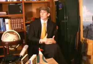Schaeffer Cox is seen in a video released by a gun rights organization.