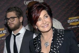Sharon Osbourne, right, and Jack Osbourne arrive at the Scream Awards on Saturday Oct. 18, 2008 in Los Angeles.