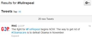 #FullRepeal in full effect.