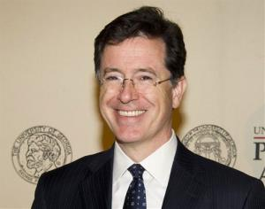 Stephen Colbert attends the 71st Annual Peabody Awards in New York.