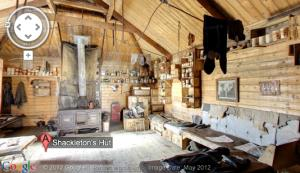The inside of Sir Ernest Shackleton's cabin in the Antarctic.